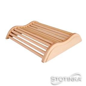 Vzglavnik leseni za savno klasik zaobljen