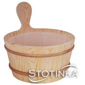 Škafek 4L leseni s plastičnim vložkom