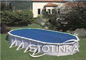 Solarno pokrivalo za bazen 610 x 375 cm ovalno