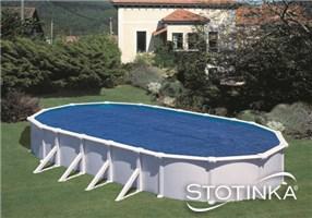 Solarno pokrivalo za bazen 810 x 470 cm ovalno