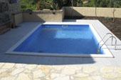 Zidan bazen z montažno folijo